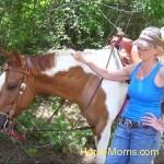 Carla Michelle Mangrum ~Koda Earl~takin a siesta on a long hot trailride~:)